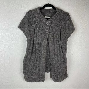 Sonoma Grey Open Front Button Cardigan Size L